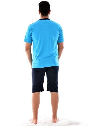 Pemilo 990 Kapri Süprem Pijama Takımı GRİ Mavi